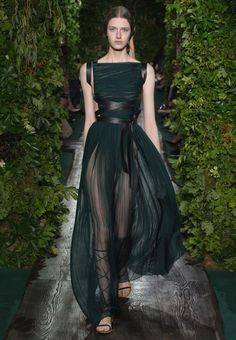 Dark green  Valentino Official Website - Valentino Women Haute Couture Look Fall Collection.