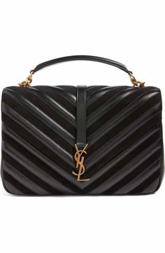Free shipping and returns on Saint Laurent Medium College Patchwork Suede & Leather Shoulder Bag at Nordstrom.com. Exquisite matelassé stitching, a smooth top handle and iconic monogram hardware detail a pieced calfskin-and-suede shoulder bag that offers fresh style while standing the test of time.