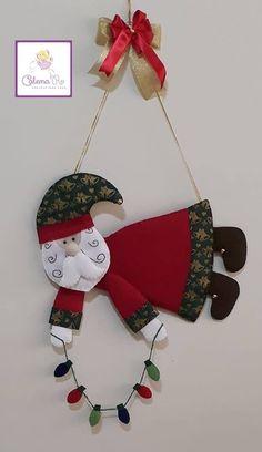 Fotos de Cris Silva Christmas Ornament Crafts, Etsy Christmas, Christmas Sewing, Christmas Makes, Christmas Fabric, Felt Ornaments, Christmas Projects, Decor Crafts, Christmas Time