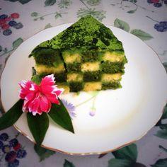 green tea domino cake