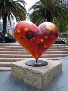 """chosen ones"" heart sculpture by monika steiner - union square san francisco I Love Heart, With All My Heart, Valentine Heart, Valentines, Cow Parade, San Francisco, Heart In Nature, Heart Wall, Love Symbols"