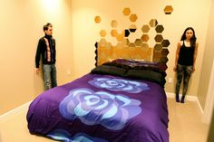 Marimekko Duvet and Ikea Honefoss Mirrors: love the mirrors