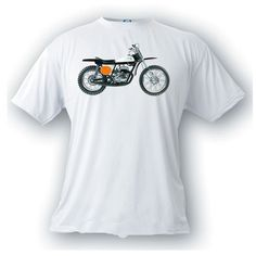 Bultaco bandido 1971 vintage image motorcycle t-shirt by artonstuffdesigns on Etsy