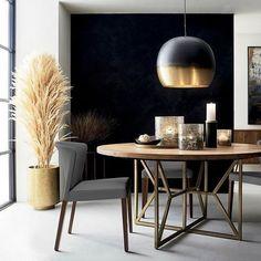 A dash of this + a twist of that. Bold brass + … A dash of this + a twist of that. - Add Modern To Your Life Design Living Room, Dining Room Design, Living Room Decor, Bedroom Decor, Modern House Design, Modern Interior Design, Home Decor Kitchen, Decorating Kitchen, Kitchen Nook