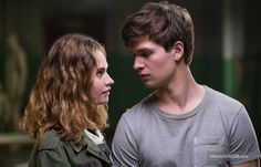Lily James and Ansel Elgort in Baby Driver 2017 Movie