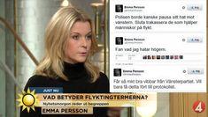 Emma Persson V utmärker sig på twitter.