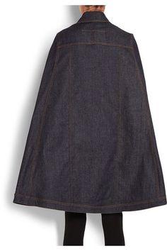 Givenchy - Cape In Dark-blue Denim - Dark denim - FR36