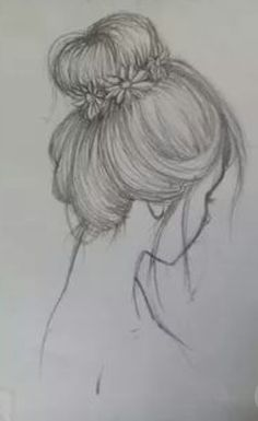 Fantasting Drawing Hairstyles For Characters Ideas. Amazing Drawing Hairstyles For Characters Ideas. Pencil Sketch Drawing, Girl Drawing Sketches, Sketchbook Drawings, Cool Art Drawings, Pencil Art Drawings, Easy Drawings, Drawing Ideas, Drawing Poses, Drawing Drawing