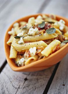 Penne met bloukaas en spek  | SARIE KOS | Penne with blue cheese and bacon