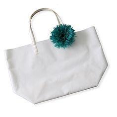 MARVELOUS!/マチつきトートバッグ ピュアホワイト M+ガーベラ ピーコックグリーン 18000yen 【当店限定】薄くて軽いバッグの新色+コサージュのセット