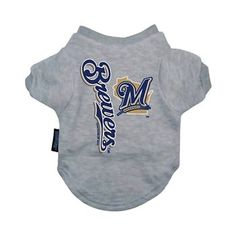 89cc16a88491 Hunter MFG Milwaukee Brewers Dog Cotton Tee Shirt