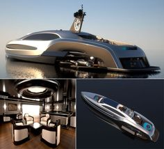 Superyacht Sovereign from Gray Design has taken its design cues from luxury limousines