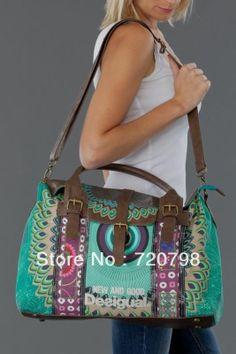 2014 New Desigual Women's shoulder bag handbag Messenger Canvas bag free shipping  $40.00