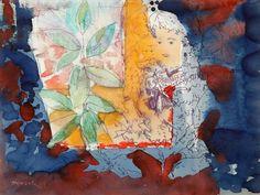 """35009124. GRAU SALA, Emilio (Barcelona, 1911 – 1977). """"Mujer y gran planta"""". Tinta y aguada sobre papel. Firmado en el ángulo inferior izquierdo. Medidas: 22 x 29 cm; 37,5 x 45 cm (marco)."""