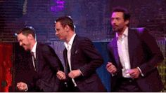 Fassy, James McAvoy and Hugh Jackman