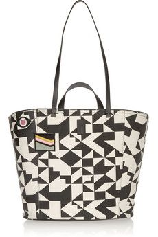Jérôme Dreyfuss Norbert leather-trimmed printed canvas tote | NET-A-PORTER
