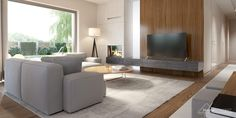 Find home projects from professionals for ideas & inspiration. Projekt domu HomeKONCEPT 36 by HomeKONCEPT Best Living Room Design, Living Room Designs, Villa Design, House Design, New House Plans, Ideal Home, Home Projects, Home Kitchens, Home And Family