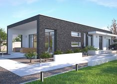 Lancaster II DCB104a - zdjęcie 2 Modern Tiny House, Modern House Design, Home Building Design, Building A House, House Construction Plan, Cabin Homes, Cabins In The Woods, Florida Home, Cool House Designs