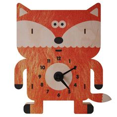 Sly Fox Clock, $40, now featured on Fab.