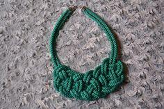 Náhrdelník z lana alebo šnúry II. Turquoise Necklace, Crochet Necklace, Homemade, Jewelry, Jewlery, Home Made, Jewerly, Schmuck, Jewels