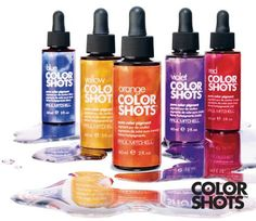 Request Color Shots! Each drop provides extra kick of that tone into your color!