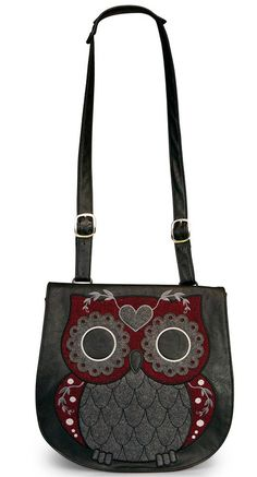 Loungefly Owl with Heart Eyes Tweed Crossbody Bag | Blame Betty.com Best. Damn. Website. Ever!