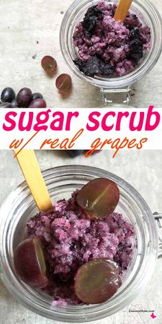 DIY grape scrub for boay