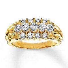 Diamond Ring 1 ct tw Round-cut 10K Yellow Gold
