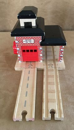 Sodor Fire Station Thomas Wooden train learning curve Department wood and friend #LearningCurve