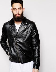 $190, Black Leather Biker Jacket: Biker Jacket Triple A Pleather by Cheap Monday. Sold by Asos. Click for more info: http://lookastic.com/men/shop_items/194786/redirect