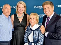 Mark Udell, Jennifer Judkins, Candy Udell, and Juan-Carlos Capelli  Longines and London Jewelers honored Jill Rappaport with a private luncheon during the Hampton Classic for her animal rights work benefiting the ASPCA. The event was held during the $40,000 Longines Cup on August 31, 2013.
