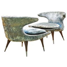 So fabulous, loving these...     1stdibs | A Pair of Fabulous Karpen of California Horn Chairs $6,000.00