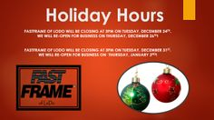 FastFrame of LoDo Holiday Hours!