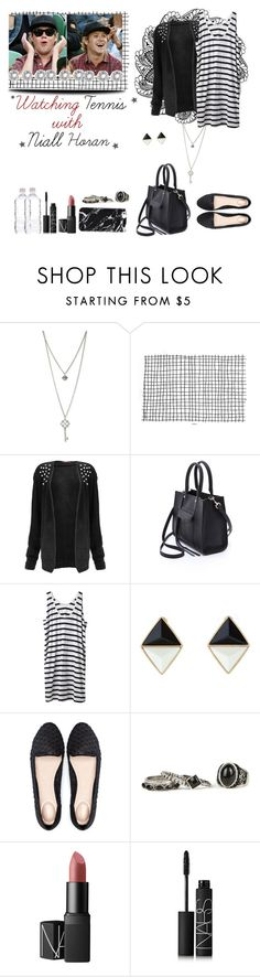 """""""☆ Watching tennis with Niall Horan ☆"""" by sarkata-boo-bear ❤ liked on Polyvore featuring GUESS, Rebecca Minkoff, Hope, Bershka and NARS Cosmetics"""