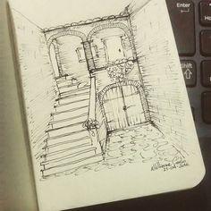 Toscana • Italy • Tuscany  Dia 112... #desenhosdoalti #desenhos #sketch #sketchers #sketchbook #art #artlovers #artbrazil #artworks #instaart #instartist #illustration #UmDesenhoPorDia #Week #dibujo #nankin #draw #drawing #iLike #simplicity #Italy #Tuscany #Arquitetura #Urbanismo #Historia #archSketch