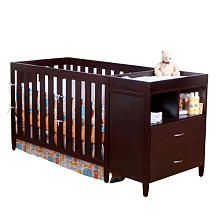 Bsf Baby Austin Convertible Crib With Changer - Espresso