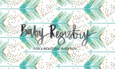 Baby Register Design by P I X E L + heart CO. // for a special mumma to be