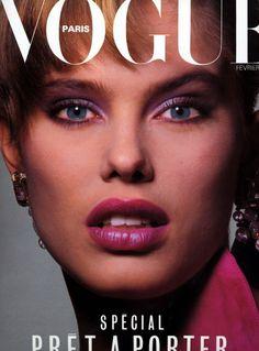 Renée Simonsen, photo by Albert Watson, Vogue Paris, February 1984*