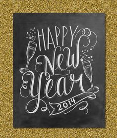 24 Chalkboard Note Cards - Bubbly Happy New Year - Blank Cards - Kraft Envelopes Included. 24 Note cards - Envelopes are free! This set features 24 blank cards - Bubbly Happy New Year - with a glossy finish on the outside of the card. Kitchen Chalkboard, Chalkboard Lettering, Chalkboard Designs, Chalkboard Ideas, Chalkboard Drawings, Chalkboard Quotes, Lily And Val, Happy New Year 2014, Happy New Year Signs