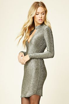 Contemporary Glitter Knit Dress #F21HolidayContest