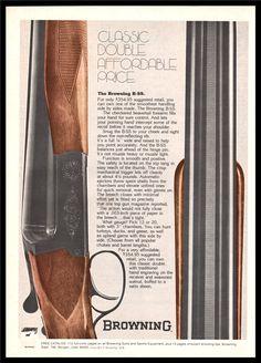 1976 BROWNING B-SS Side-by-Side SHOTGUN AD : Gun Posters, Catalogs & Flyers at GunBroker.com