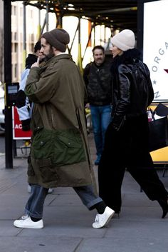 It's cold out there, but that hasn't deterred the thousands of stylish men and women who've come out to attend the London Fashion Week Mens' shows