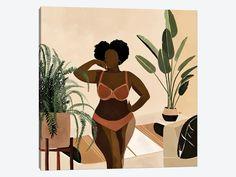 Black Love Art, Black Girl Art, Art Girl, Black Art Painting, Black Artwork, Canvas Artwork, Canvas Art Prints, Photographie Art Corps, Arte Grunge