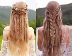 Bohemian chic hairstyle with braid - ideas adapted to any occasion! - Bohemian chic hairstyle with braid - ideas adapted to any occasion! Bohemian Hairstyles, Chic Hairstyles, Winter Hairstyles, Braided Hairstyles, Wedding Hairstyles, Hairstyle Ideas, Hairstyle Braid, Bohemian Braids, Princess Hairstyles