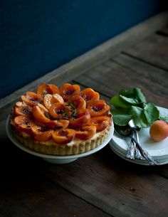// apricot brûlée tart with thyme & vanilla bean | desserts for breakfast