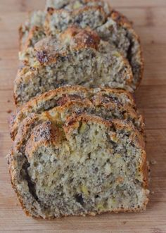 Banana Chia Bread by savynaturalista: Nut free banana bread that's full of chia seeds, fiber and flavor for a healthy snack! #Banana_Bread #Chia #Healthy