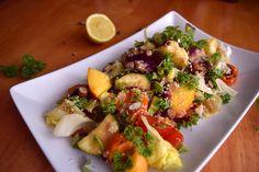 nyári saláta őszibarackkal recept | www.thepuur.com