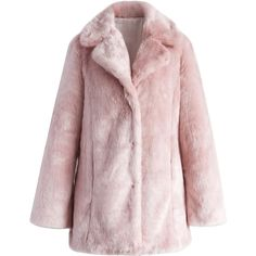 Chicwish Pink Marshmallow Faux Fur Coat ($82) ❤ liked on Polyvore featuring outerwear, coats, jackets, pink, pink coat, pink faux fur coat, fake fur coats, imitation fur coats and pink fake fur coat
