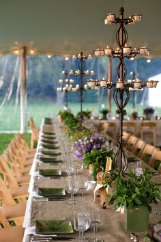 This would be gorgeous at night when lighting is needed and soft above heads and out of the way - Hummmm a DIY project for large and small parties ....wonder if top heavy?