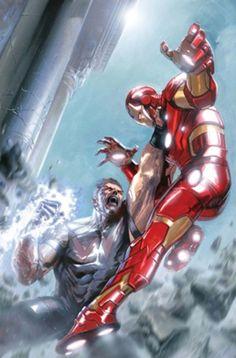 Una delle copertine dipinte di Gabriele Dell'Otto, da Avengers #1